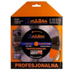Deimantinis pjovimo diskas 180x22.23 TURBO PULSAR