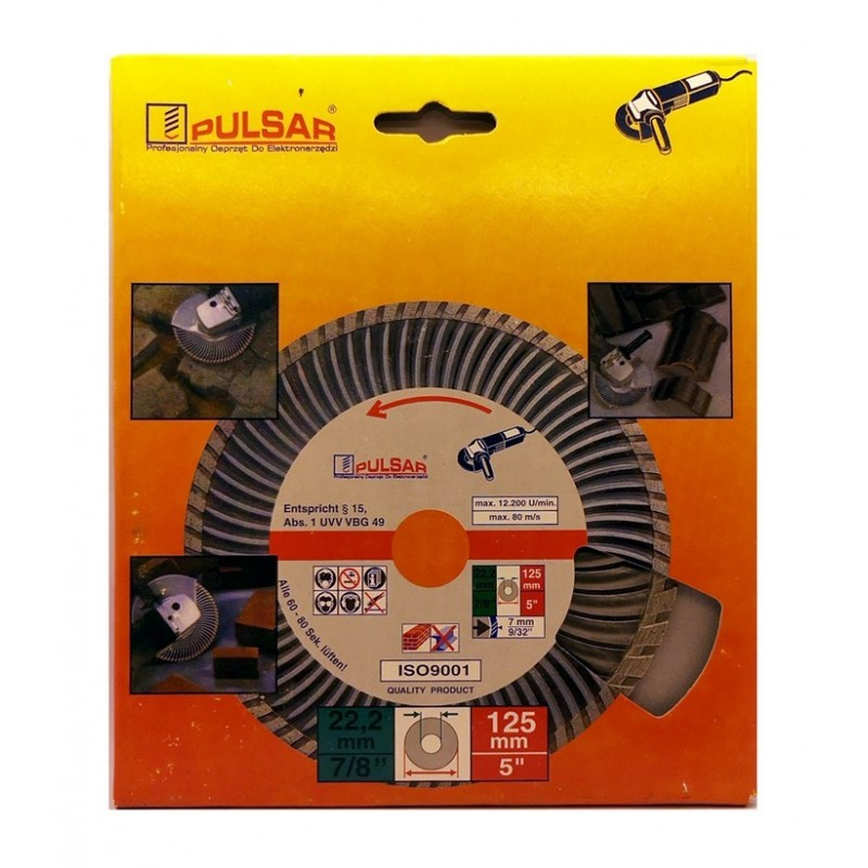 Deimantinis pjovimo diskas 125x22.23 SUPER TURBO SILVER