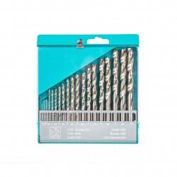 Rinkinys grąžtų metalui DIN 338 1.0-10.0x0.5 mm. 19vnt.