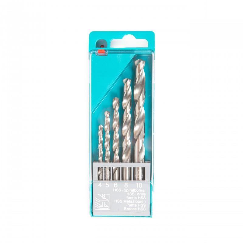 Rinkinys grąžtų metalui DIN 338 4-5-6-8-10 5 vnt.