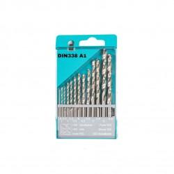 Rinkinys grąžtų metalui DIN 338 A1 1.5-6.5x0.5+3.3/4.2 13vnt.