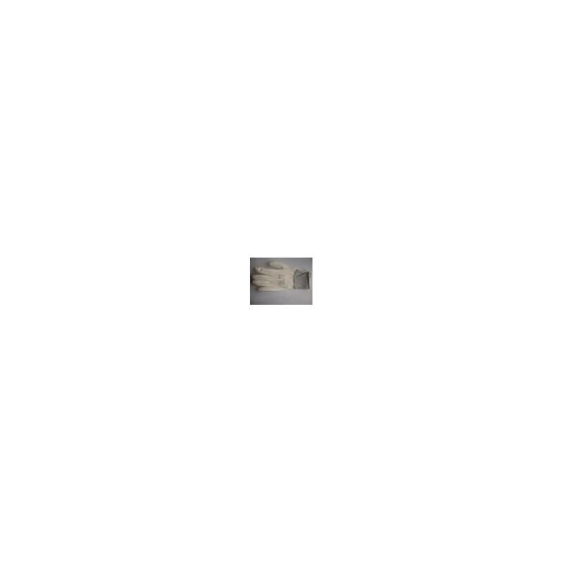 Nailoninės pirštinės aplietos poliuretanu, baltos