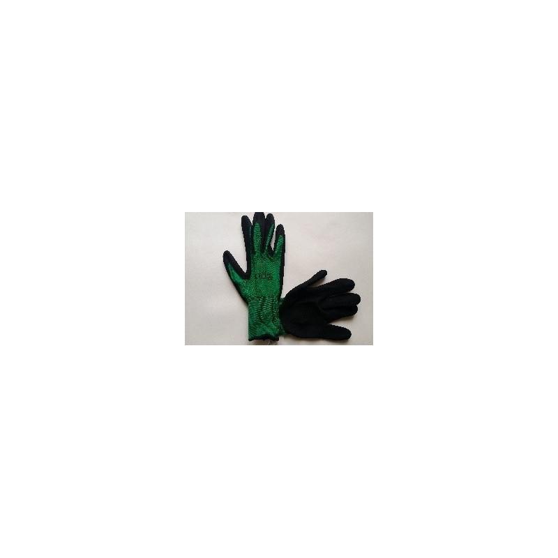 Nailono pirštinės dengtos nitrilu, ilgais rankogaliais